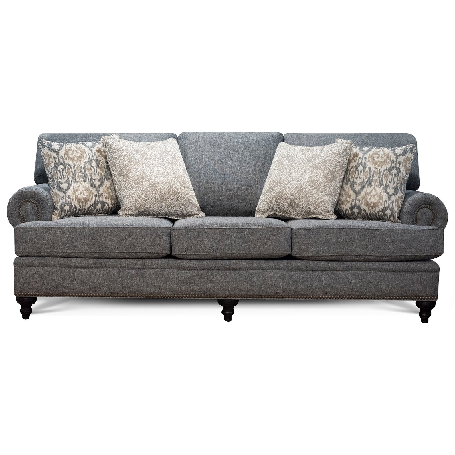 June Sofa with Nailhead Trim by England at Miller Waldrop Furniture and Decor