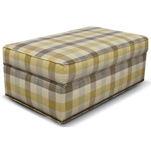Rectangular Storage Ottoman with Nailhead Trim