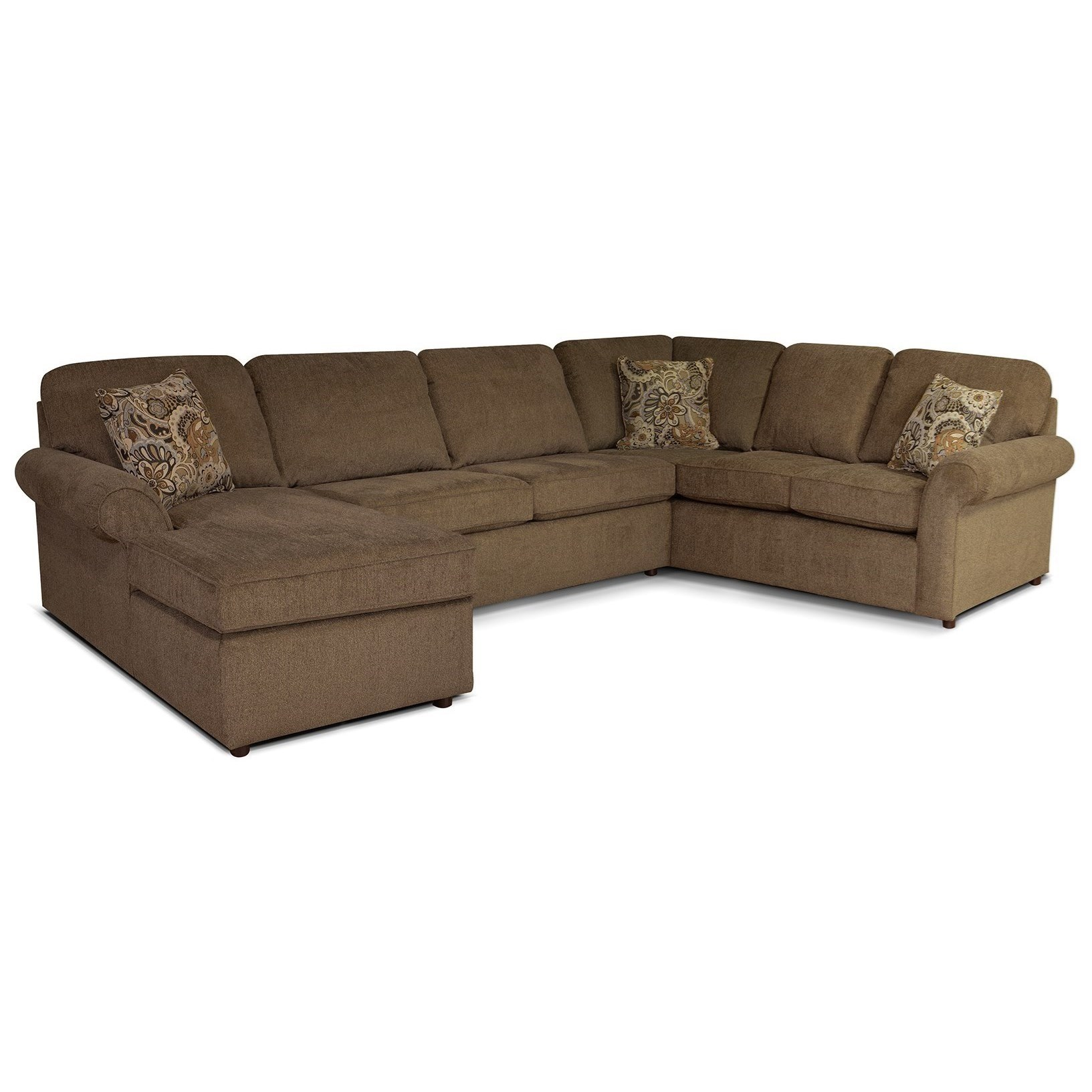 Malibu 5-6 Seat (left side) Chaise Sectional by England at Gill Brothers Furniture