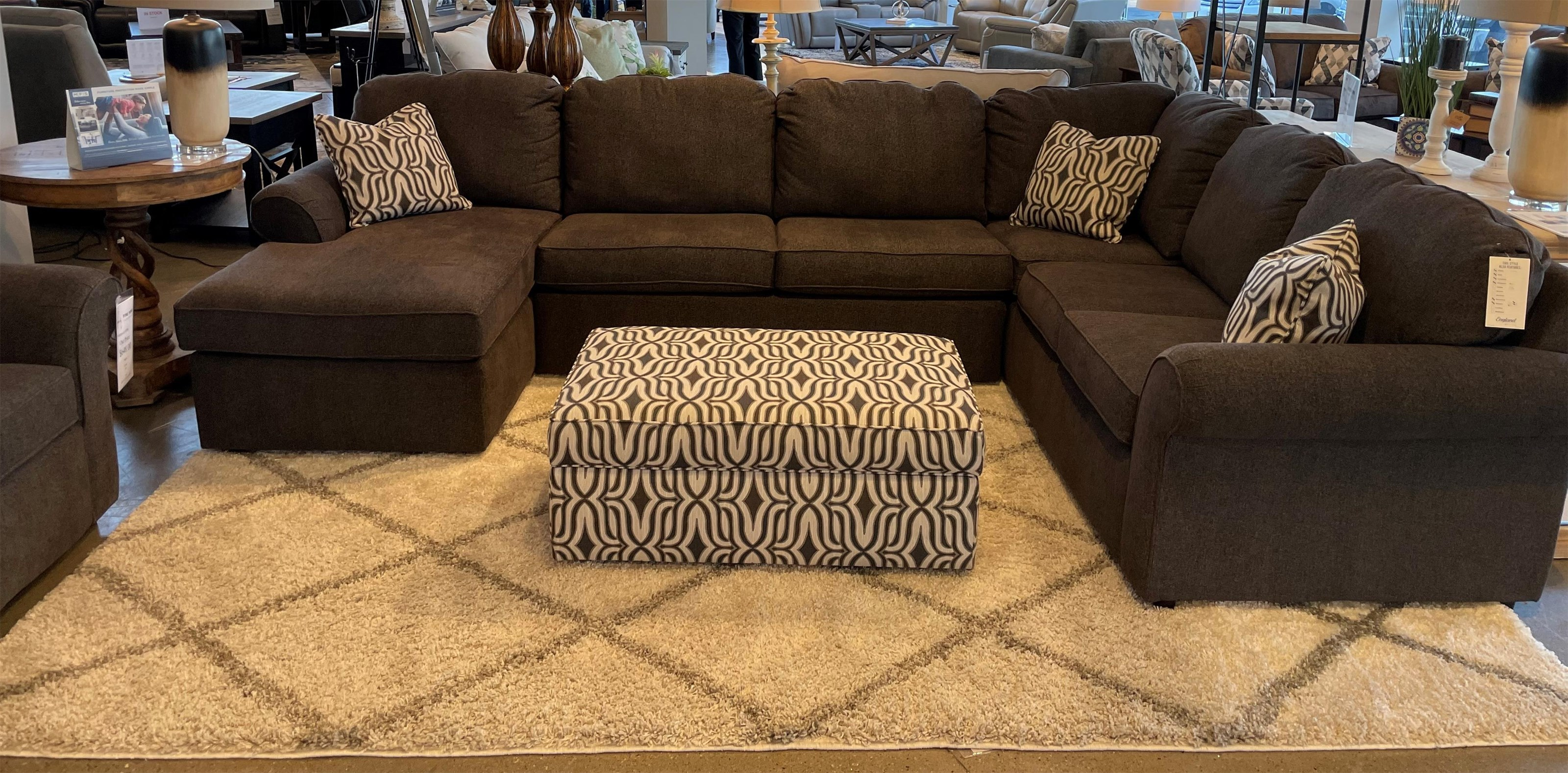 Malibu 5-6 Seat (left side) Chaise Sectional by England at Fine Home Furnishings
