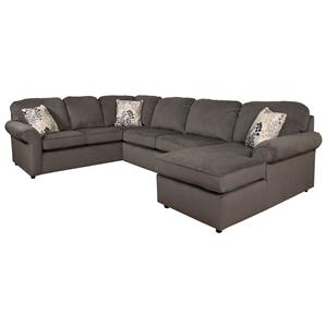 5-6 Seat (right side) Chaise Sectional Sofa