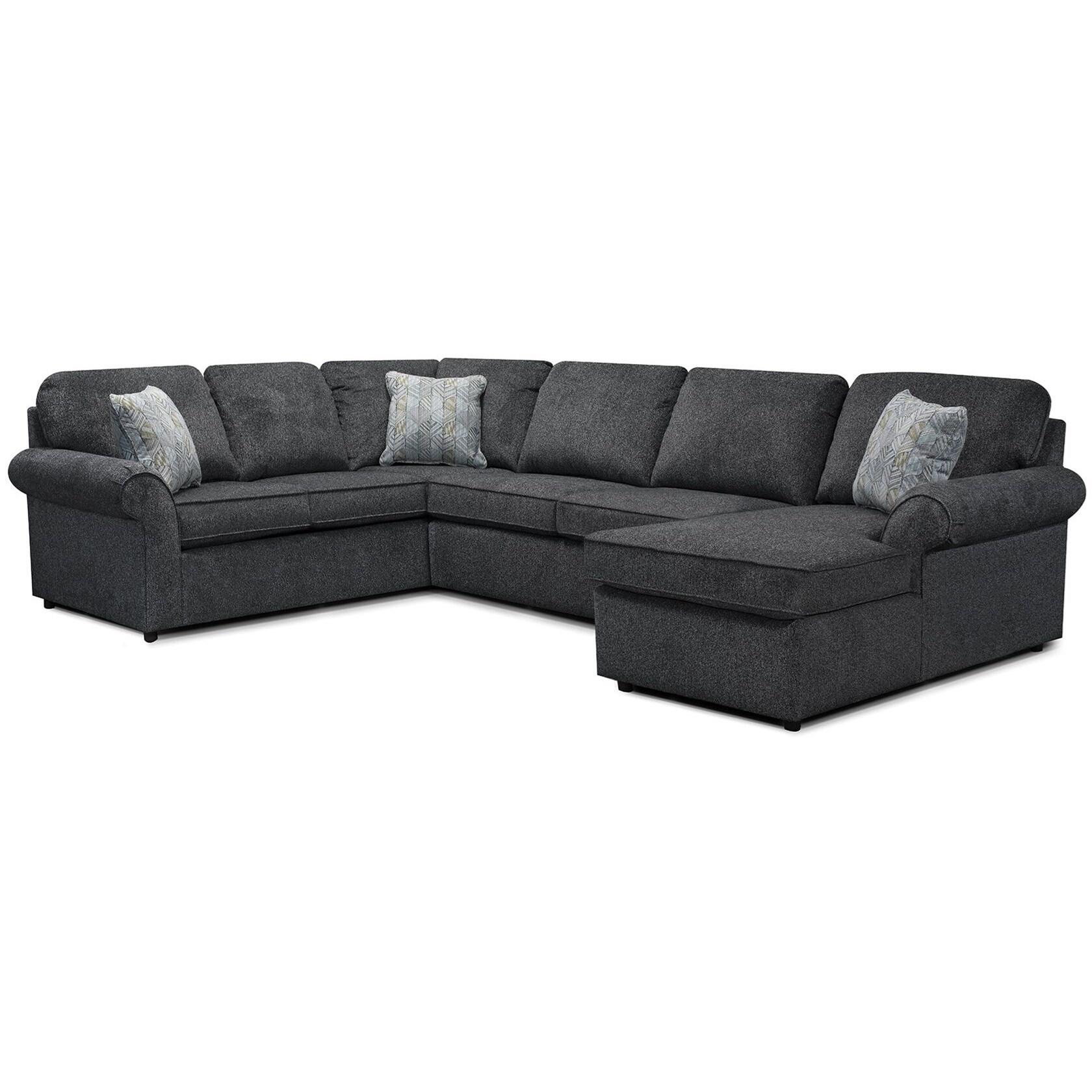 Malibu 5-6 Seat (right side) Chaise Sectional by England at Virginia Furniture Market