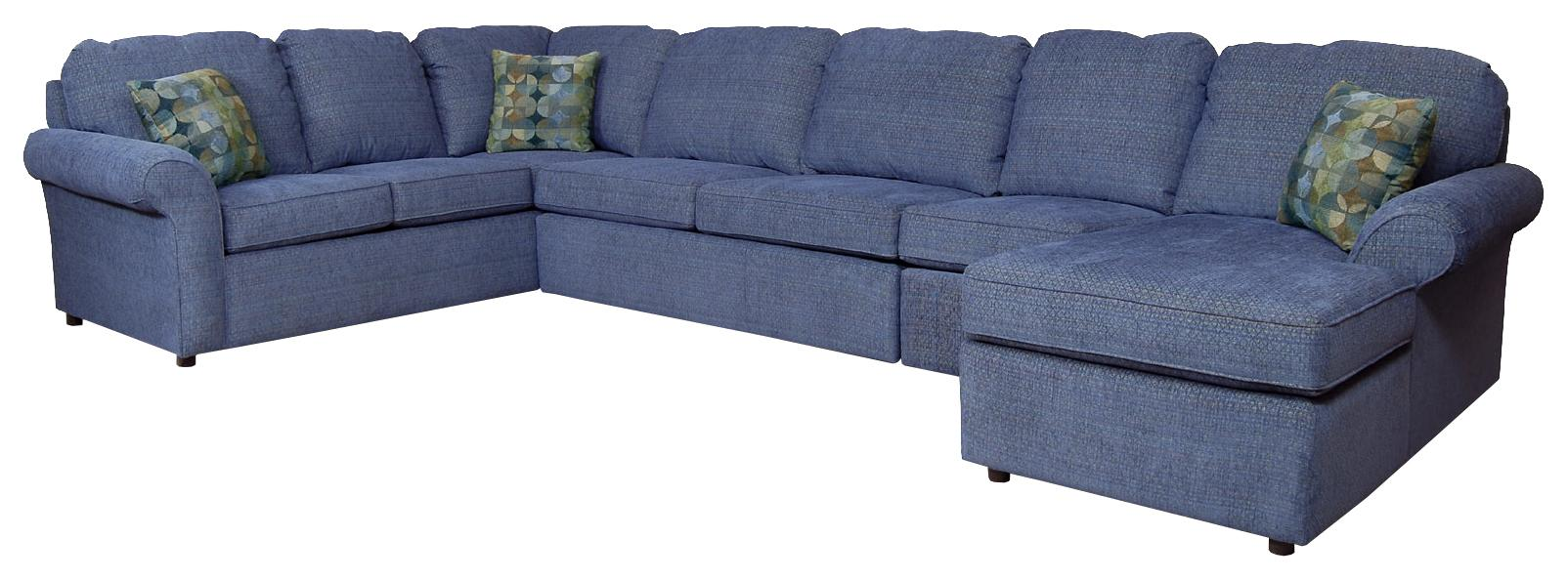 Malibu 6-7 Seat (right side) Chaise Sectional by England at Fashion Furniture