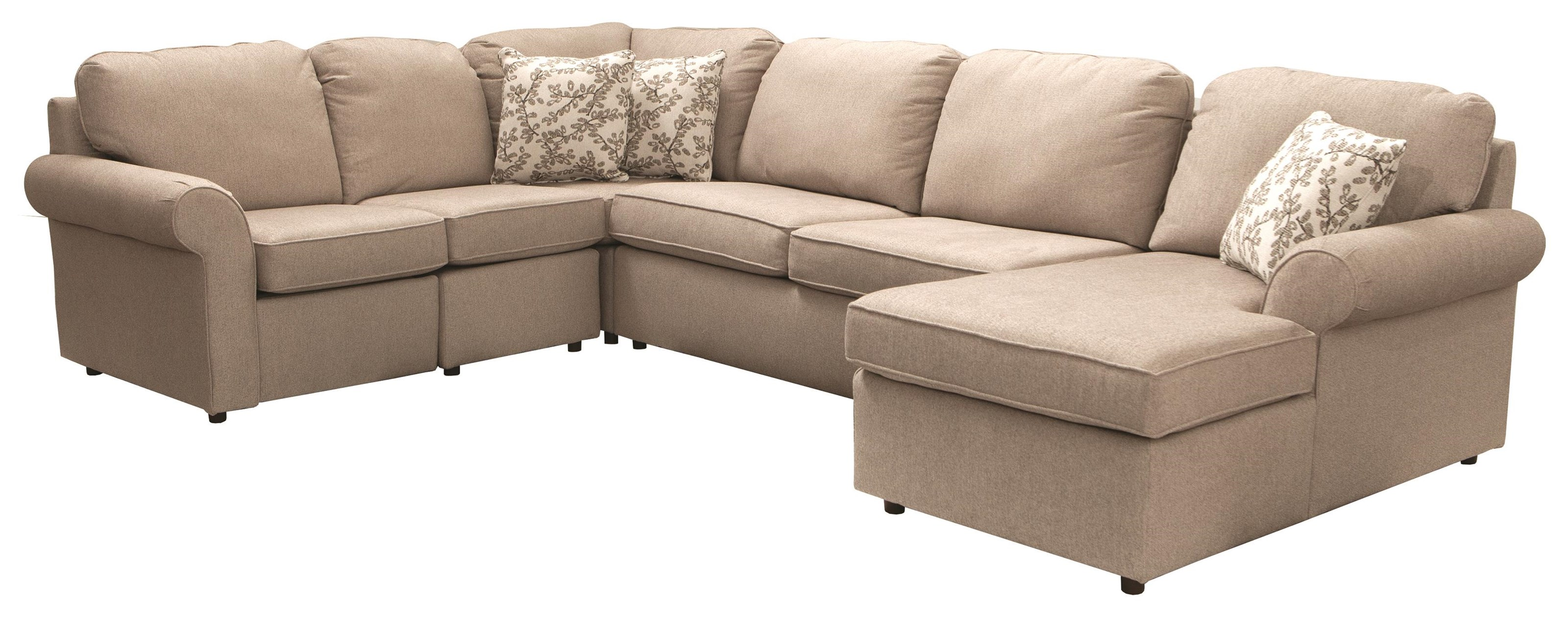 Malibu 4 Piece Sectional With Power Reclining Loves by England at Darvin Furniture