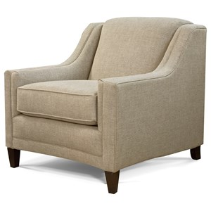 Transitional Upholstered Chair with Track Arms