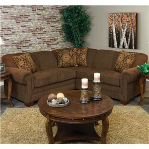 2 Piece Sectional Sofa with LAF Loveseat