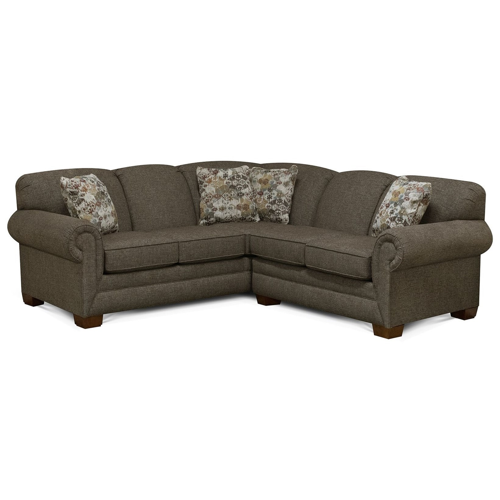 Monroe 2-Piece Sofa Sectional by England at Novello Home Furnishings