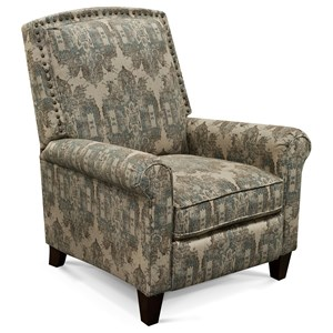 Transitional Upholstered Chair with Rolled Arms and Nailhead Trim