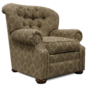 Traditional Arm Chair with Button Tufting