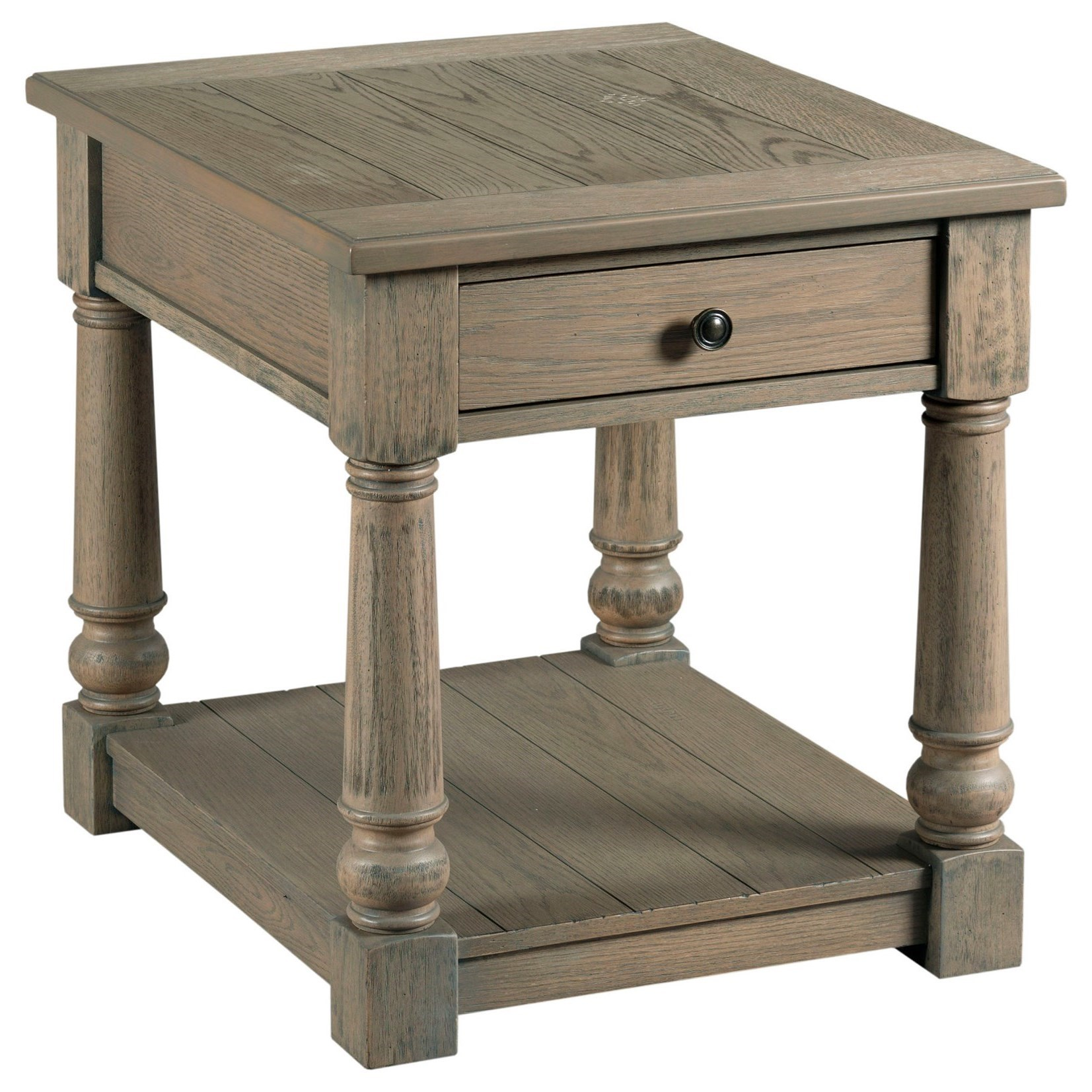 Outland Rectangular Drawer End Table by England at Virginia Furniture Market