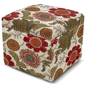 Storage Ottoman with Nailhead Trim