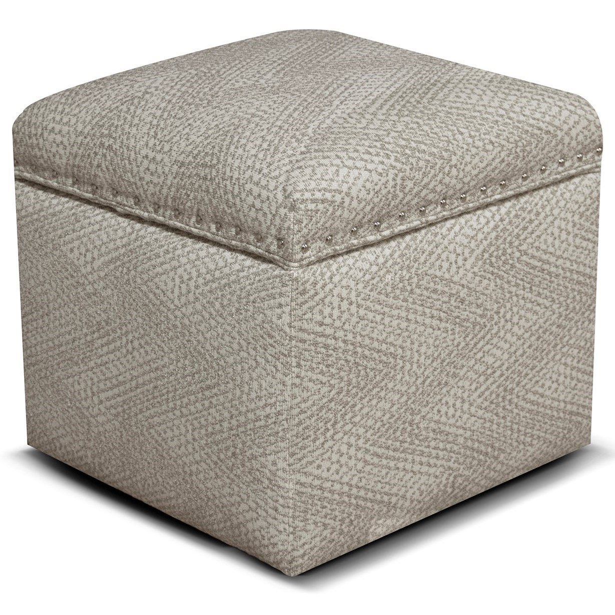 Parson Storage Ottoman with Nailhead Trim by England at EFO Furniture Outlet
