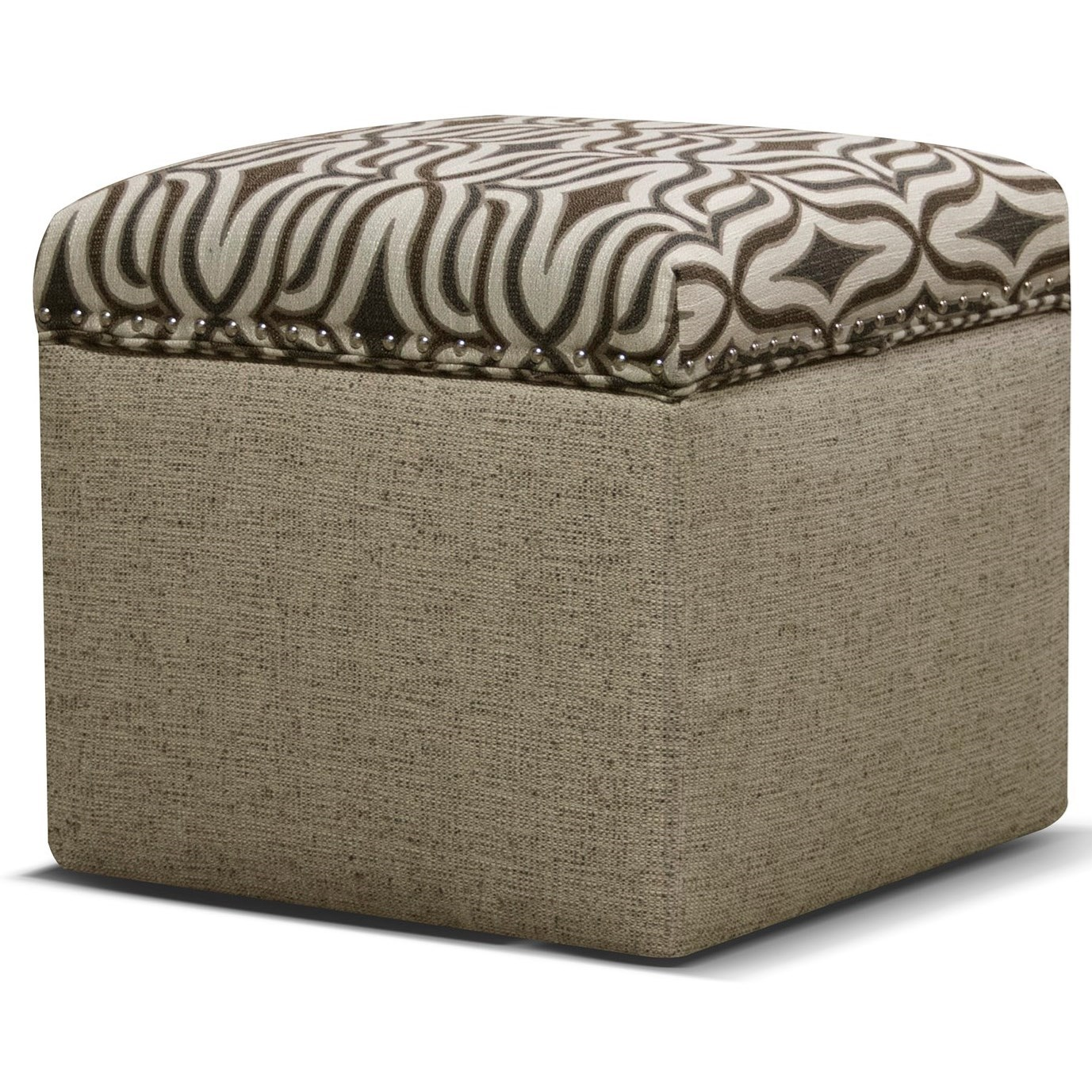 Parson Storage Ottoman with Nailhead Trim by England at Miller Home