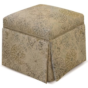 Skirted Storage Ottoman with Nails