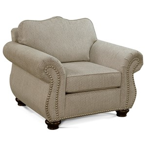 Traditional Chair with Nailhead Trim