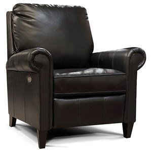 Leather High-Leg Reclining Chair