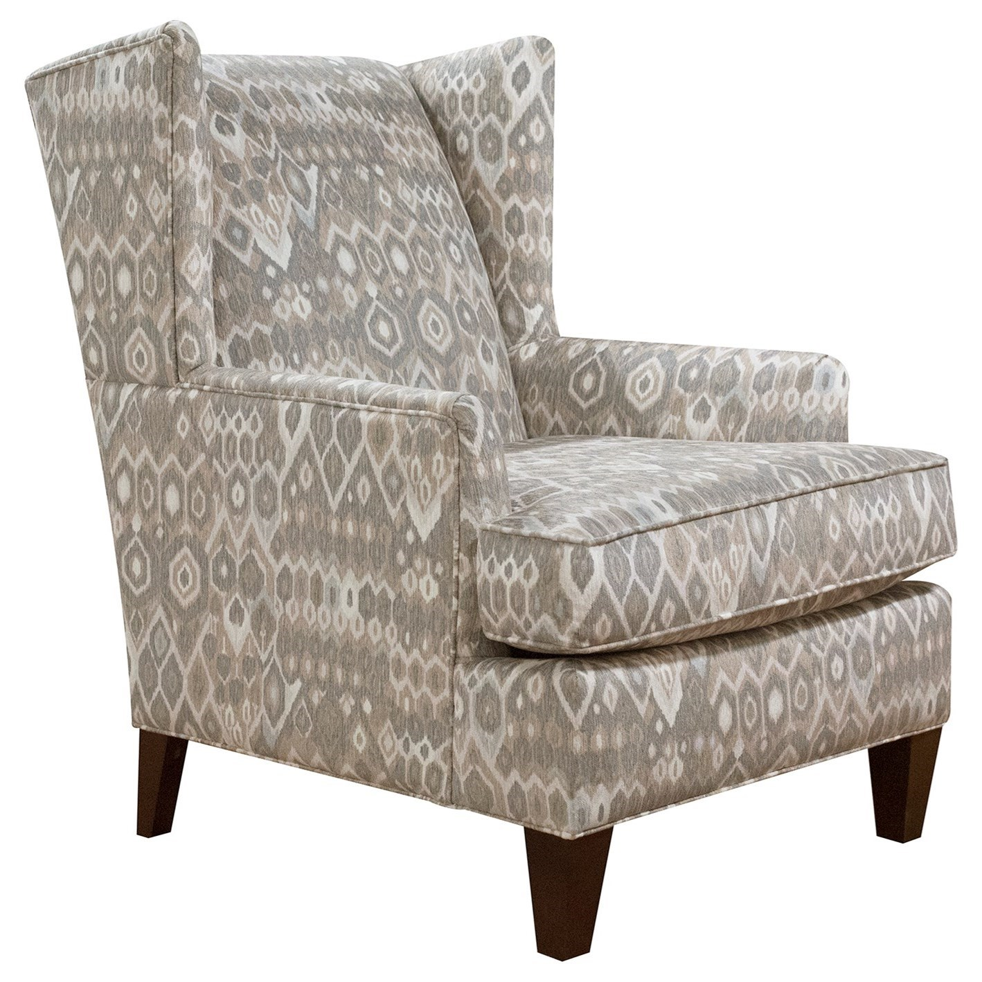 Reynolds Upholstered Wing Chair by England at Virginia Furniture Market