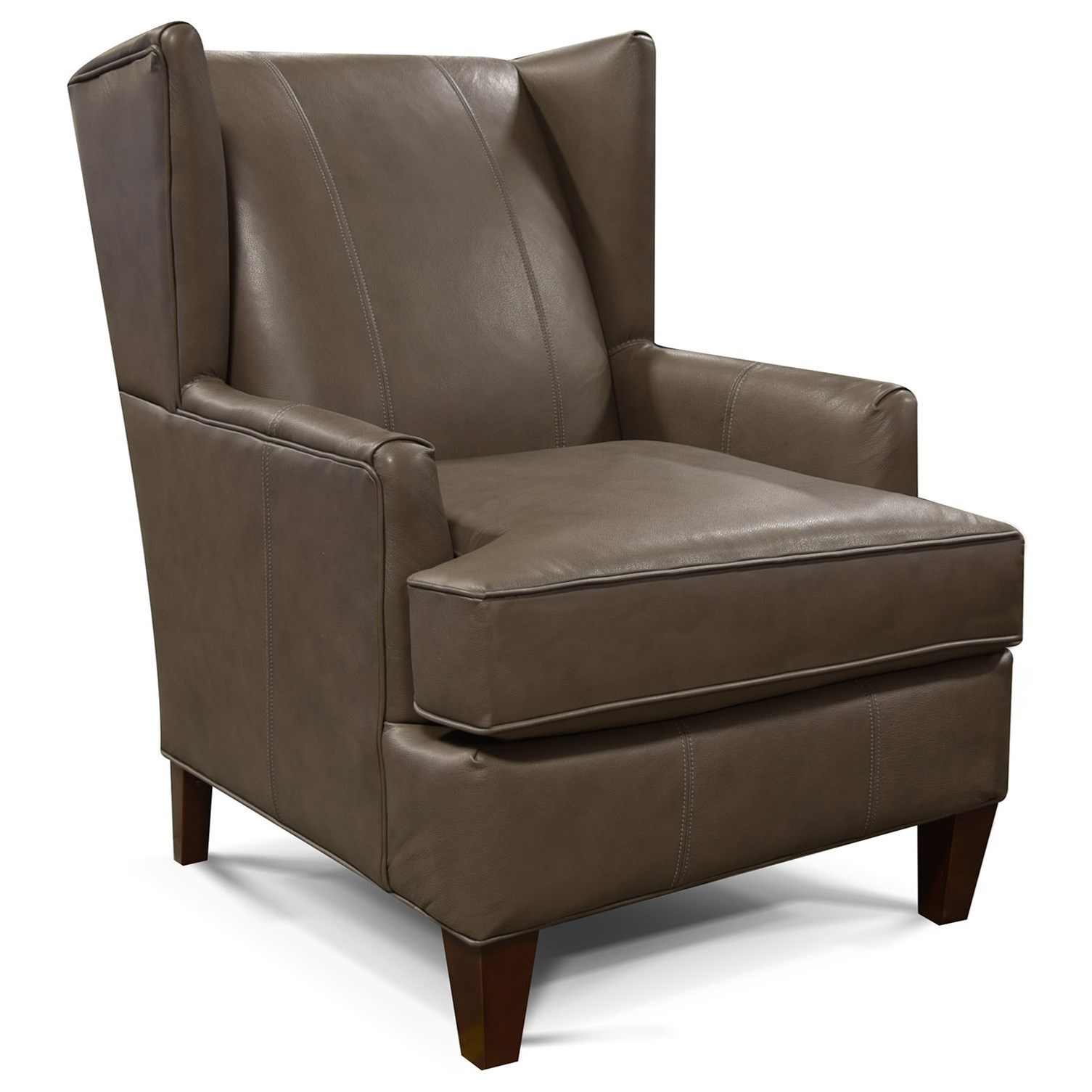 Olive Upholstered Wing Chair by England at Pedigo Furniture