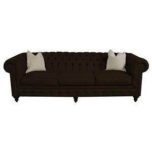 Traditional Sofa with Tufted Back and Arms