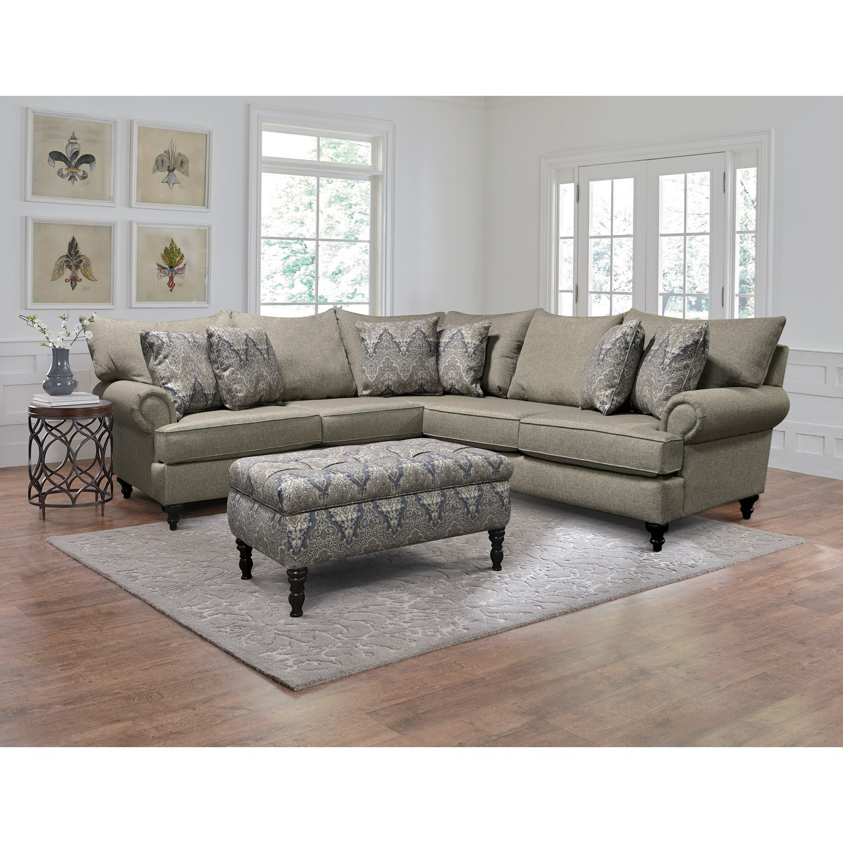 Rosalie Stationary Living Room Group by England at Story & Lee Furniture