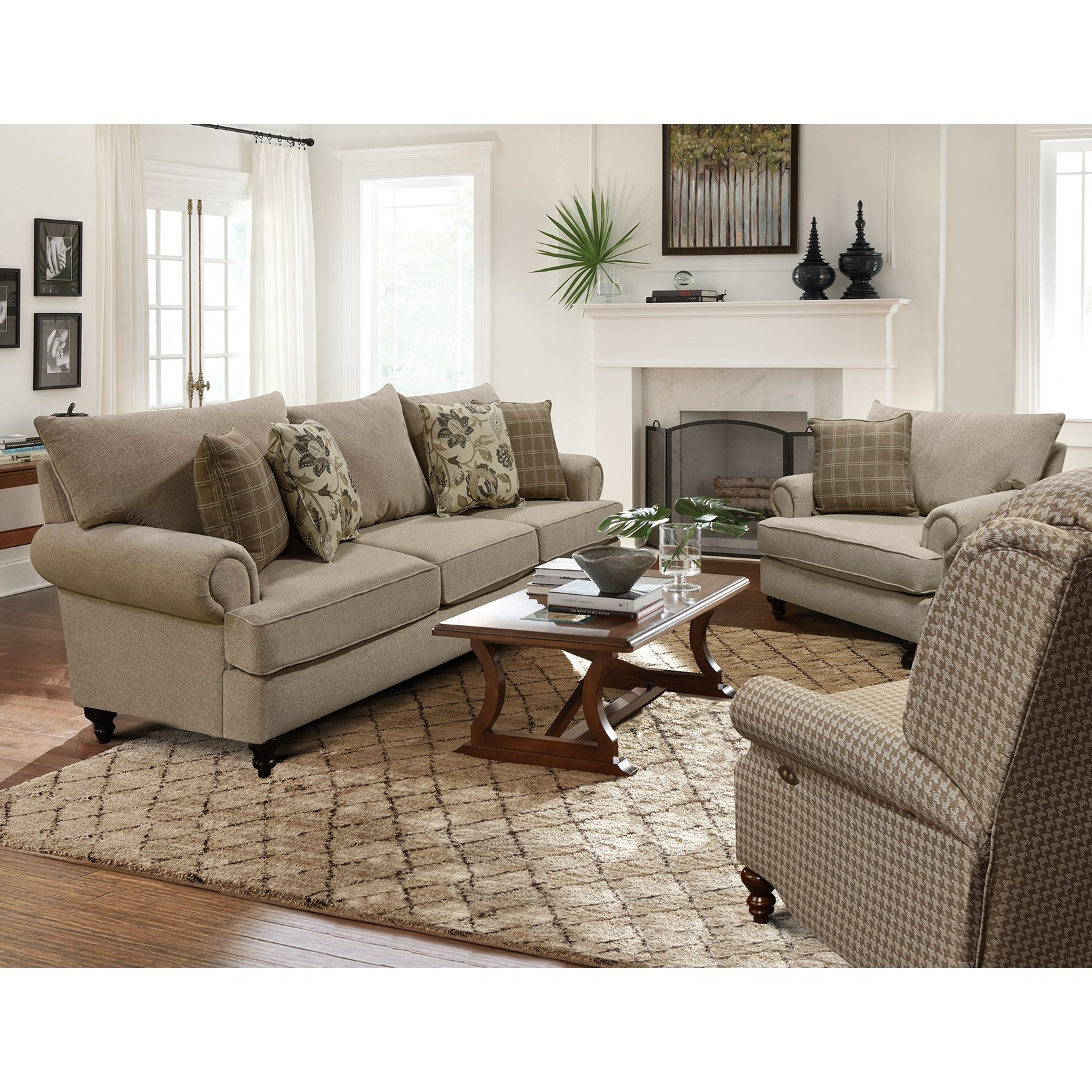 Rosalie Stationary Living Room Group by England at SuperStore