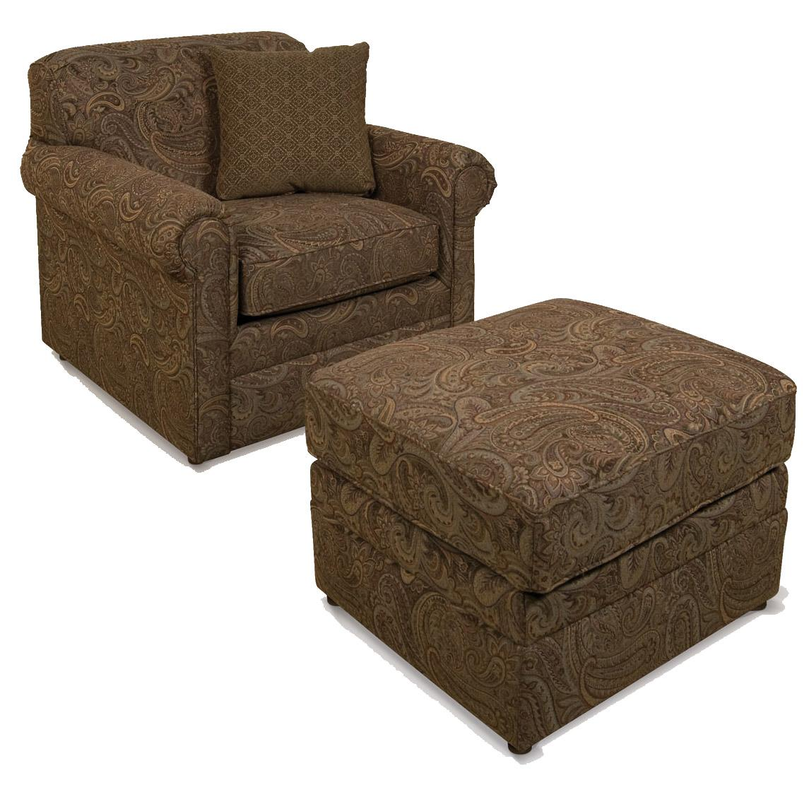 Savona Chair and Ottoman Combo by England at SuperStore