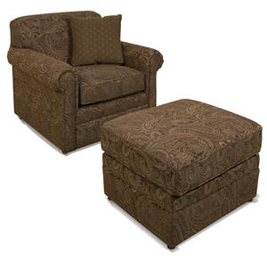 Chair and Ottoman Combo