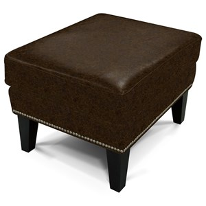 Ottoman with Nailheads and Casual Look