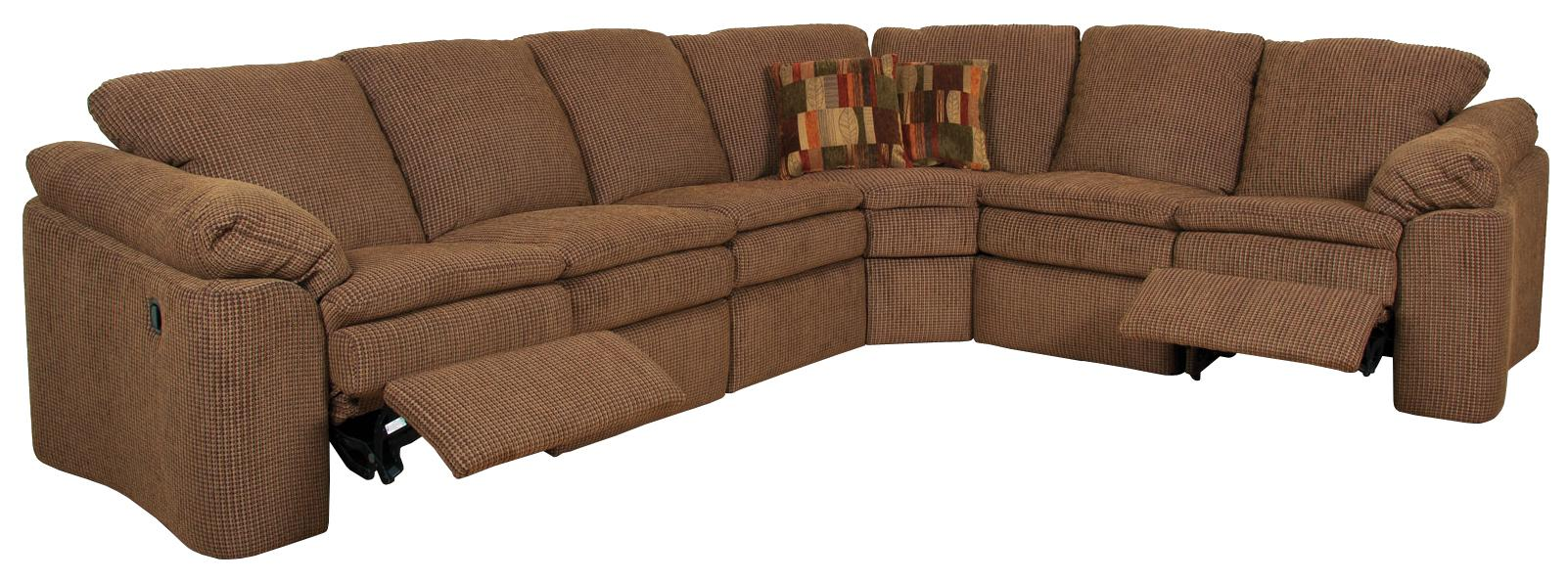 Seneca Falls Six Person Reclining Sectional Sofa by England at Furniture and ApplianceMart