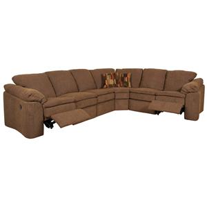 Six Person Reclining Sectional Sofa