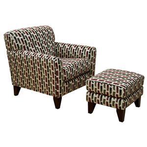 England Shockley Chair and Ottoman