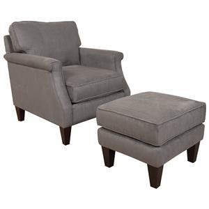 England Sigmond  Arm Chair and Ottoman Set