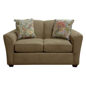Loveseat with Casual Contemporary Style