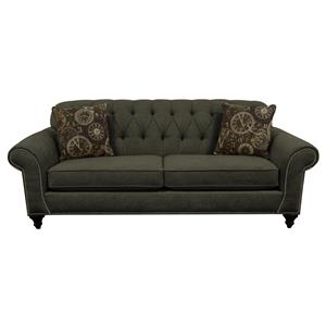Sofa with Nailheads and Button Tufted Seat Back