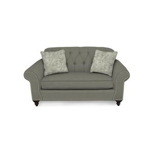 Loveseat with Nailheads and Tufted Seat Back