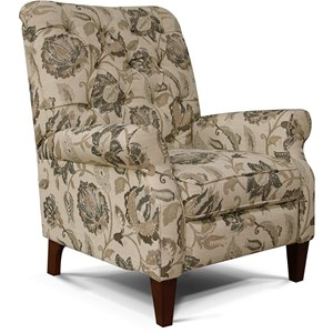 Push Back Chair with Tufted Back