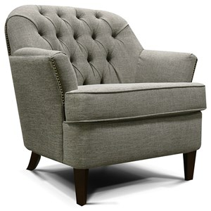 Tufted Back Chair with Traditional Style
