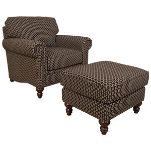 England Telisa  Living Room Chair and Ottoman