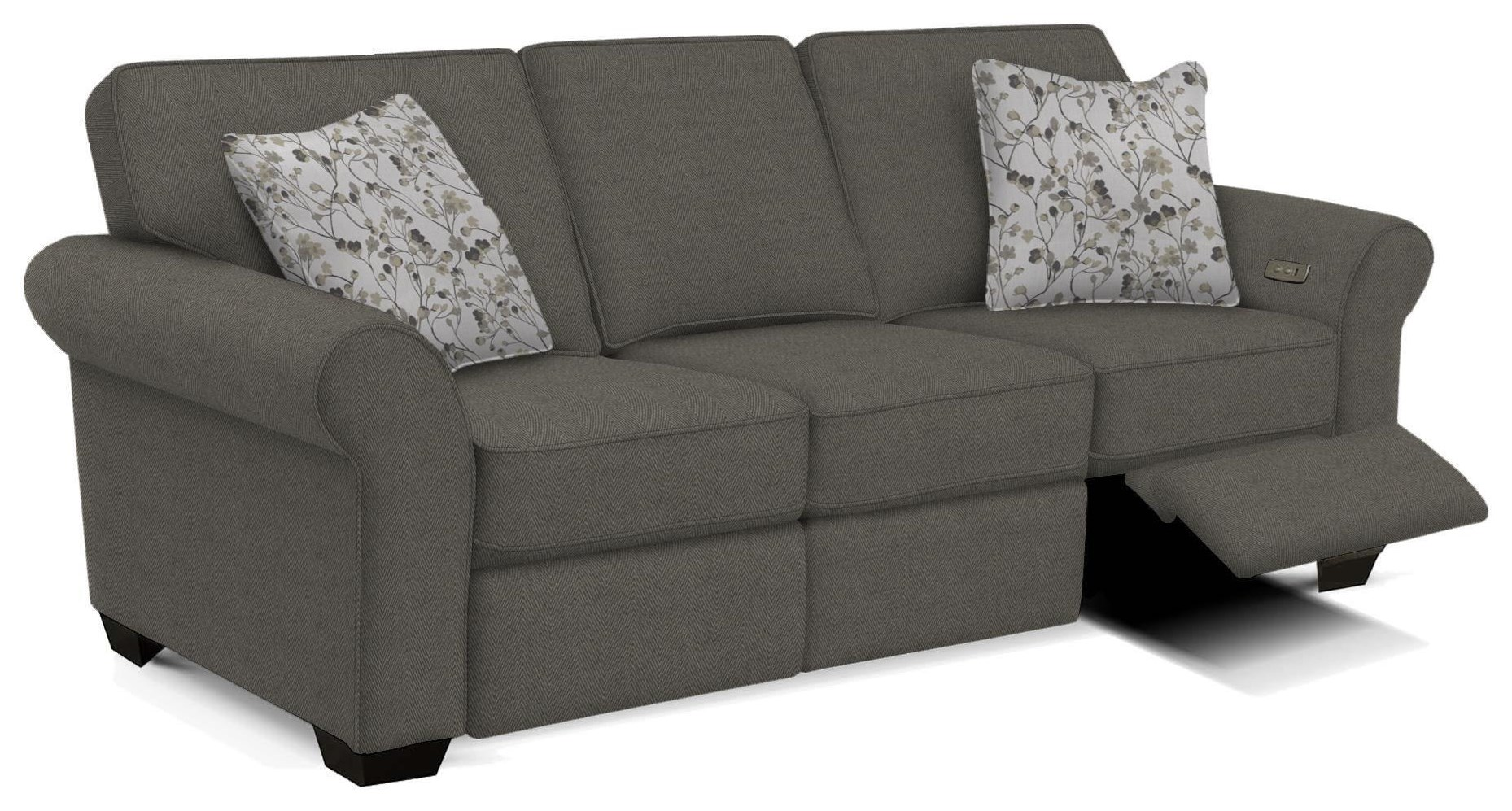 Jasper Sofa with Power Ottomans  by England at Crowley Furniture & Mattress