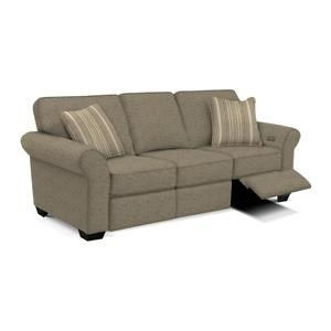 Transitional Sofa with Power Ottoman