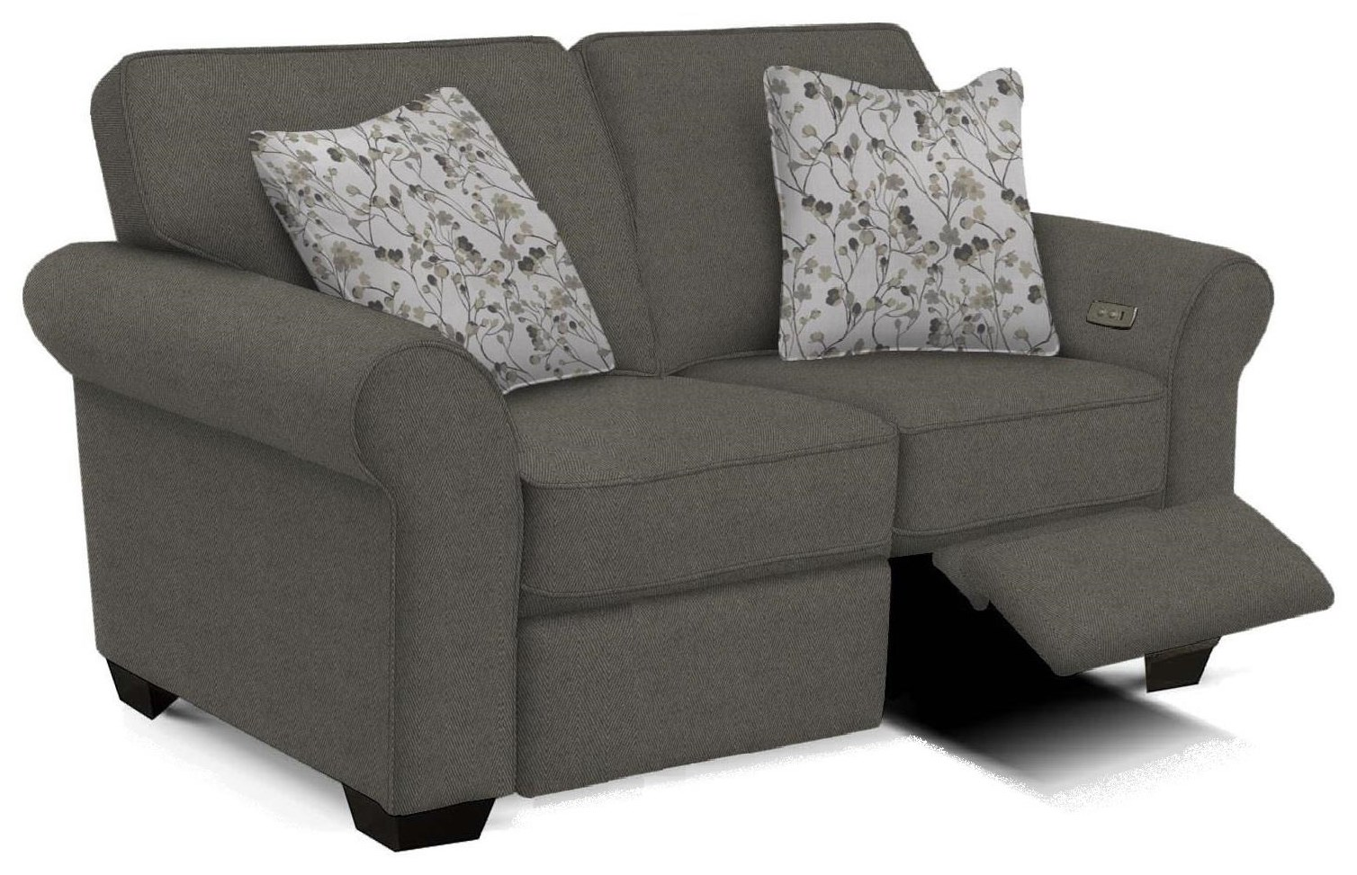 Jasper Loveseat with Power Ottomans by England at Crowley Furniture & Mattress