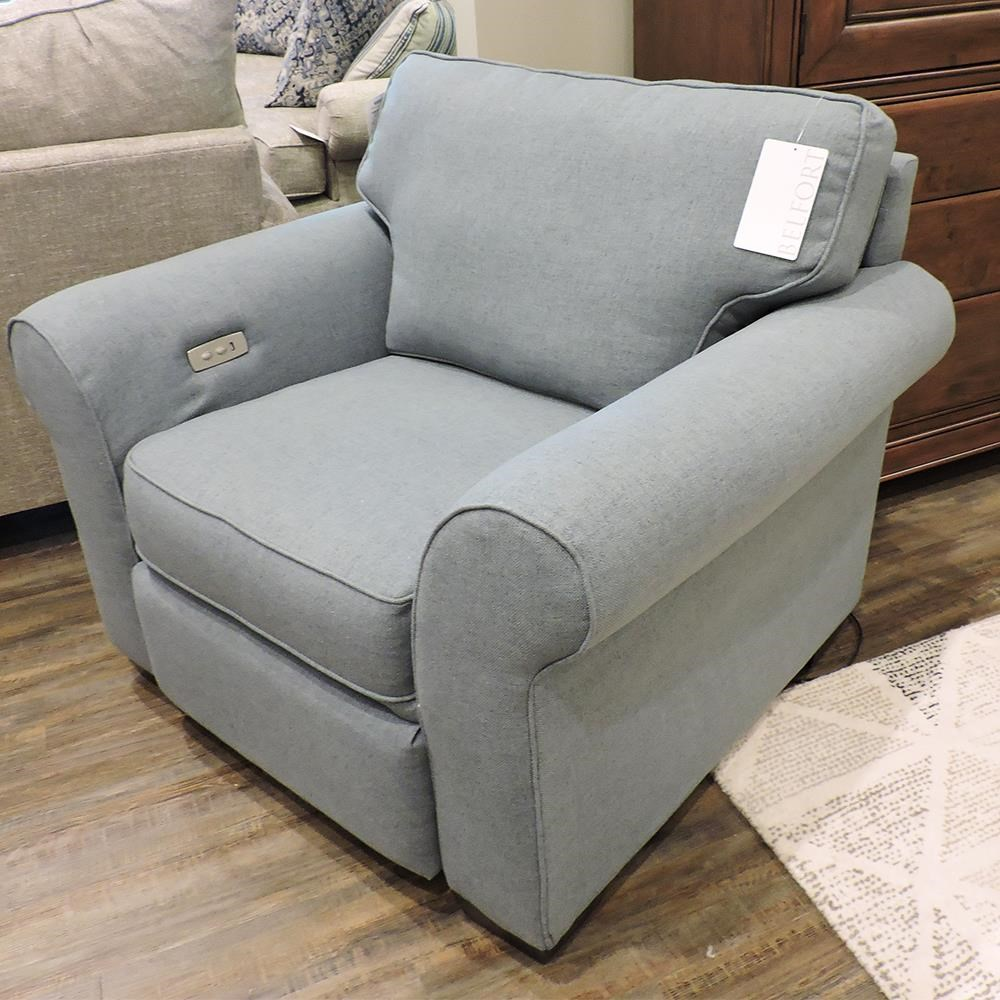Wallace Chair With Power Ottoman by England at Belfort Furniture