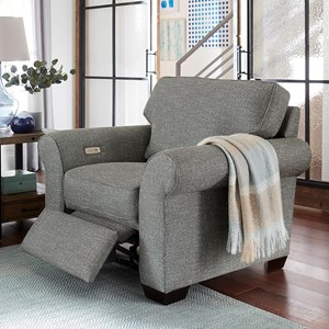 Transitional Chair with Power Ottoman
