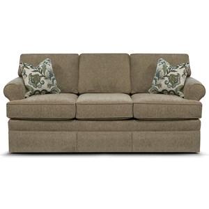 Traditional Skirted Sofa