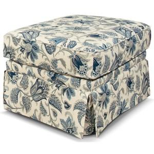 Skirted Box Top Ottoman