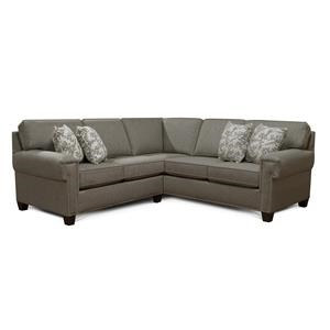 Sectional Sofa with Nailhead Accents
