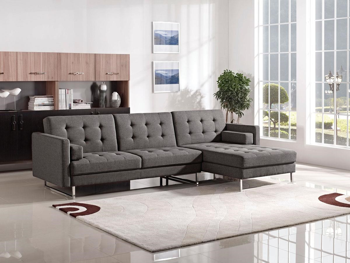 MNG Modern Living Modular Gray Sectional by ESF Wholesale Furniture at Dream Home Interiors