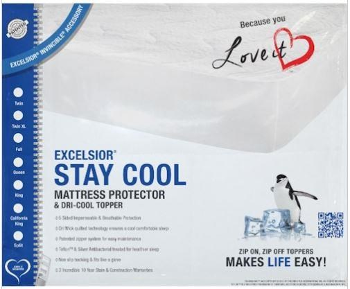 """Stay Cool II 10"""" King Mattress Protector by Excelsior at SlumberWorld"""