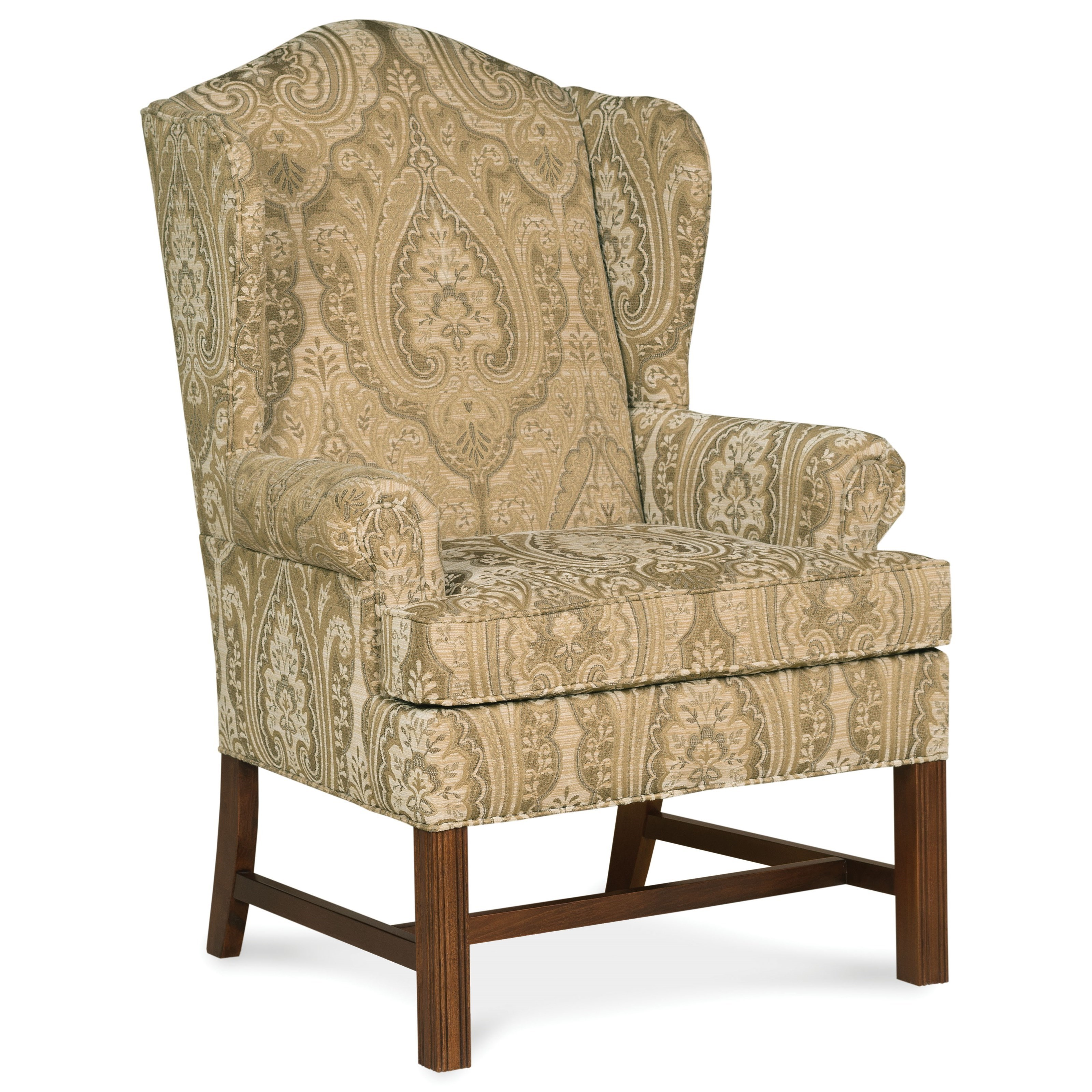 1072 Upholstered Wing Chair by Fairfield at Lindy's Furniture Company