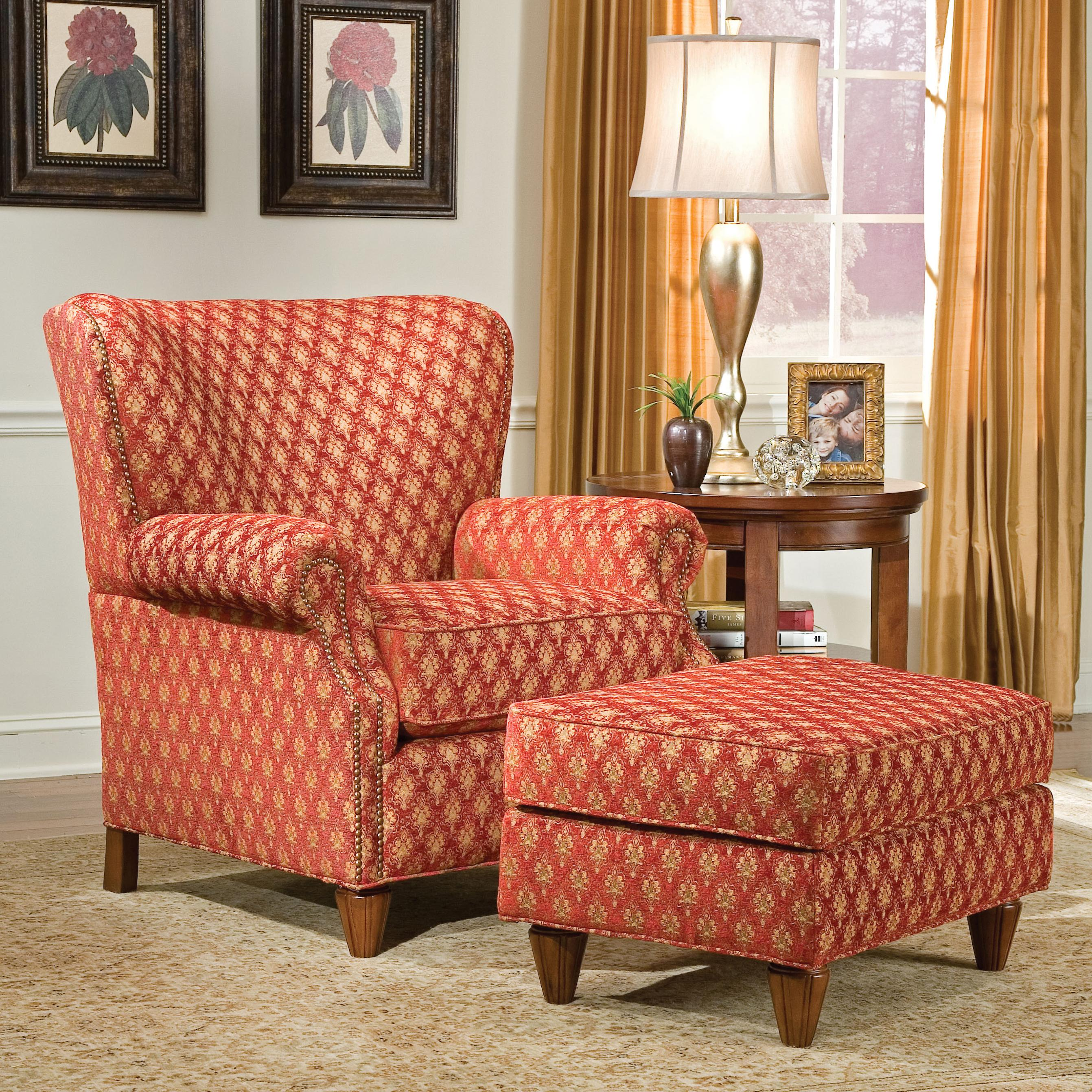 1403 Chair and Ottoman by Fairfield at Stuckey Furniture